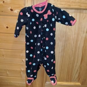 Polka dot Carter's 6-month sleeper button up